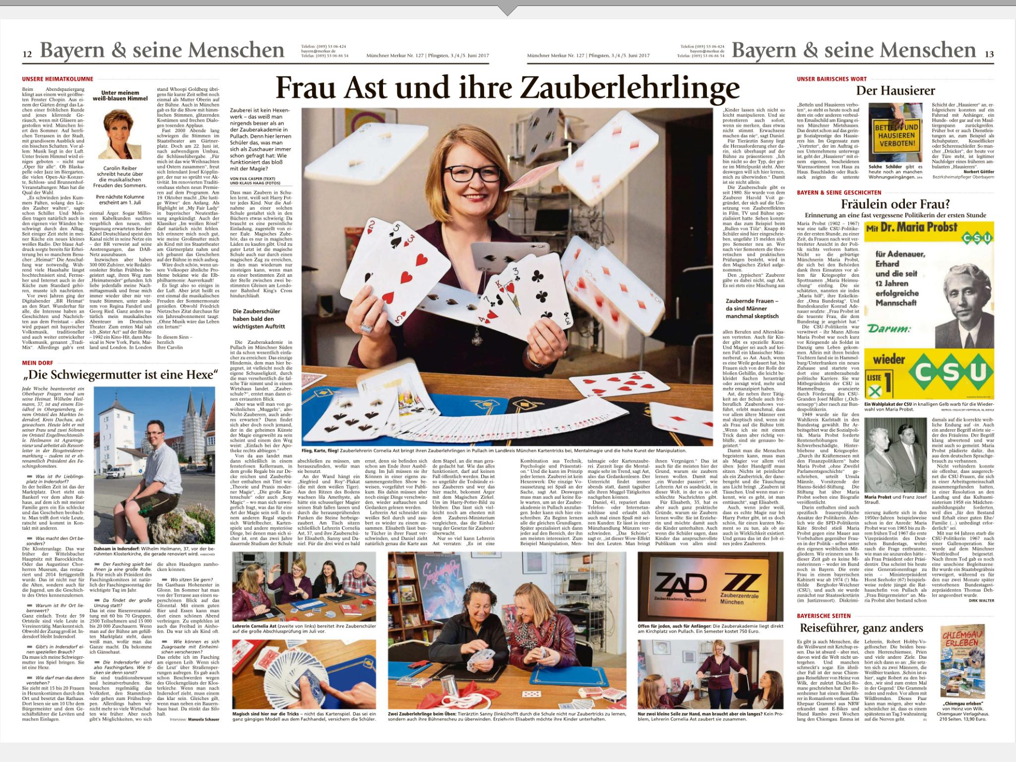 Artikel im Münchner Merkur vom 03.06.2017